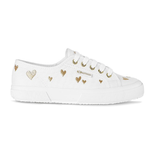 2750 HEARTS EMBROIDERY WHITE-GOLD HEARTS_S61135WA1Z